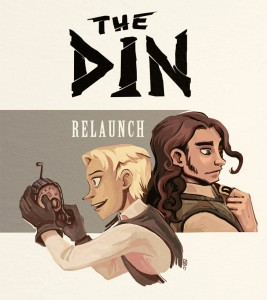 The relaunch poster for relaunching The Din. Drawn 2014.